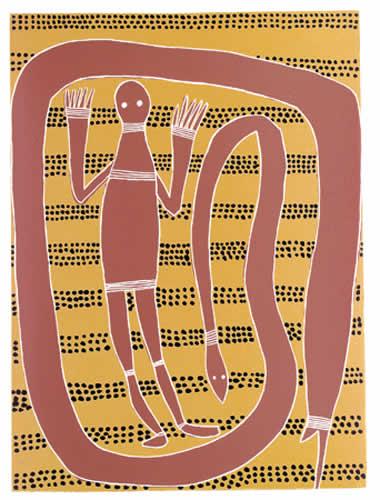 Widtji and Sisters, Phillip Gudthaykudthay Songlines Aboriginal Art Darwin