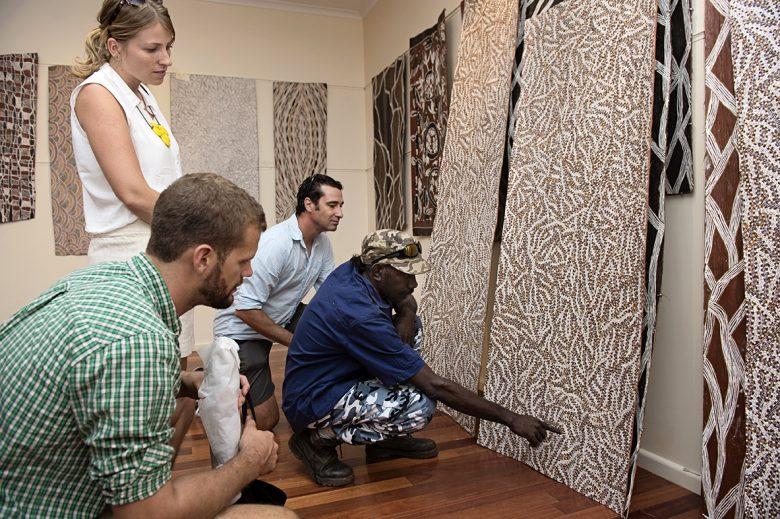 Indigenous art & craft at Songlines Gallery Darwin - Buku Larrnngay Mulka